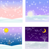 Vector Snow Background