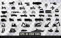 36 Free transportation icons collection