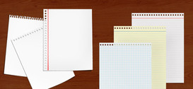 6 Free PSD Paper Notes