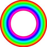 12 color rainbow donut