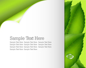 Free template greenery and nature