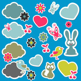 Animals icons vector-1