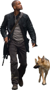 """Will Smith and Dog """"I Am Legend"""" PSD"""