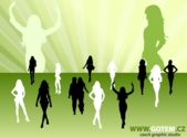 Fashion Woman Silhouettes Vector Free