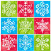 Snowflakes Pack with Bubbles & Different Backgrounds