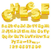 Cheese Creative letters
