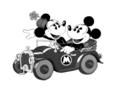 Classic Mickey And Minnie PSD