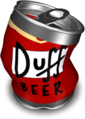 DUFF BEER THE SIMPSONS 2 PSD
