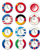 clock in different countries