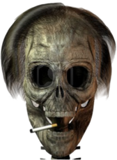skull with cigarette PSD