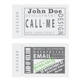 Ticket Style Business Card Template Set PSD