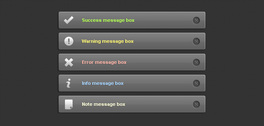 5 Dark message boxes