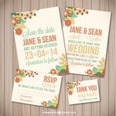 Flower wedding template wood texture