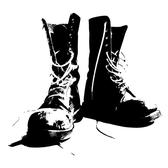 BOOTS MONOCHROME VECTOR GRAPHICS.eps