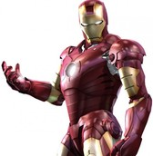Highly Detailed Ironman Superhero Graphic PSD