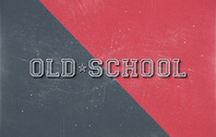 Old School Retro Psd texto efecto