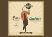 Free Vector Retro Business Poster