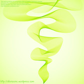 Abstract Background with Wavy Twirls