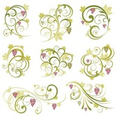 Abstract Floral Vine druif Ornament