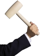 hand holding mallet PSD