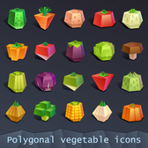 20 models of abstract geometry design vector vegetables