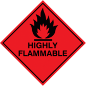 (Highly Flammable Sign)