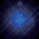 Abstract Blue Science & Technology Background (Free)