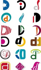Alphabetical Logo Design Concepts. Letter D