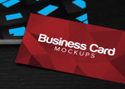 High Contrast Business Card PSD Mockups