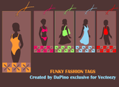 Funky Fashion Tags