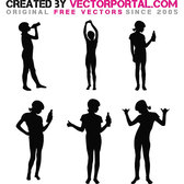 GIRL SILHOUETTES VECTOR.eps