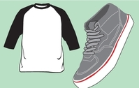 Blank T-Shirt and Shoe