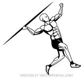 JAVELIN THROWER VECTOR GRAPHICS.eps