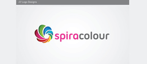 Spiral Color Wheel Vector Logo