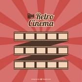 Film roll retro cinema