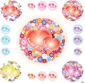 Free Vector: Hearts and Flowers