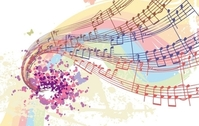 Free Vectors: Colorful Musical Notes