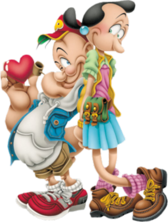 popeye and olive PSD