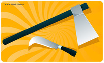 Vector Graphic Axes And Knives