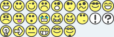 24 flat grin smilies emotion icons emoticons for example for forums
