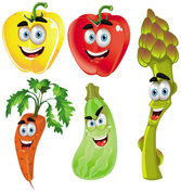 Vegetable cartoon image 02