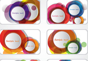 Colorful business card set