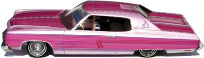 Pink Chevy Lowrider PSD