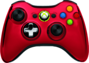 Red Chrome XBOX 360 Controller PSD