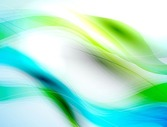 Abstract Blue Green Waves Background