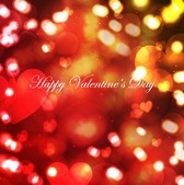 Bokeh Light with Shiny Hearts Valentine's Day Background
