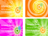 Four colorful flower free vector banners