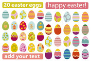 A Variety Of Easter Eggs
