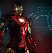 Futuristic Superhero Ironman Wallpaper PSD
