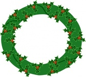Evergreen Wreath With Large Holly